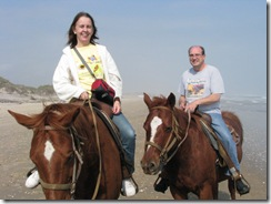 5294 Bill and Karen Horseback Riding on the Beach South Padre Island Texas