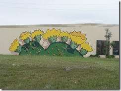 5474 Cactus Mural on Wall South Padre Island Texas