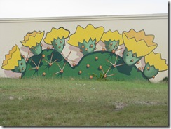 5475 Cactus Mural on Wall South Padre Island Texas