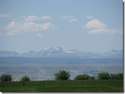 1574 Snow Capped Mountains from Lyman WY