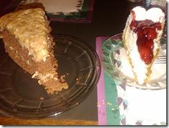 0511i German Chocolate Cake & Cherry Cheesecake at Chances R York NE