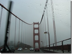 3525 Foggy Rainy Golden Gate Bridge San Francisco CA