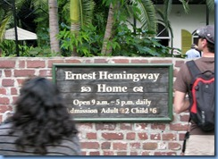 7334 Key West FL - Conch Tour Train - Ernest Hemingway House