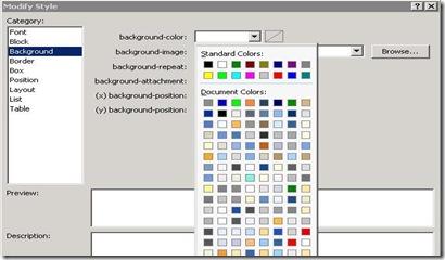 DVWP - Formatting - Modify Style