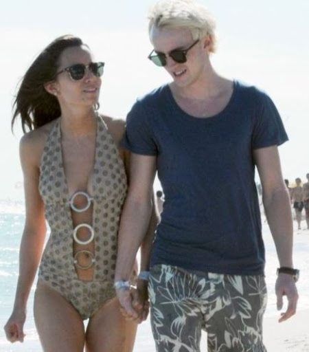 tom felton and jade olivia kiss. Tom Felton y su novia Jade