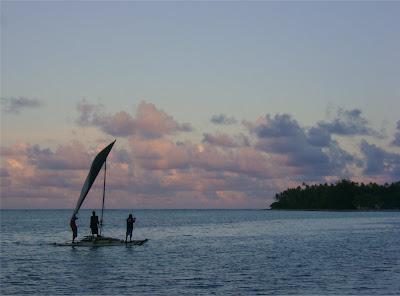 Ujae, Sailing Canoe at Dusk, Peter Rudiak-Gould