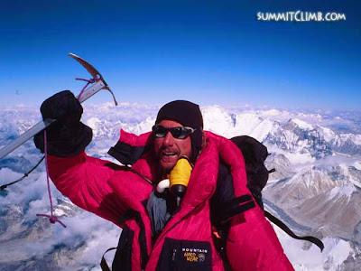 SummitClimb leader on Everest (Courtesy of SummitClimb)