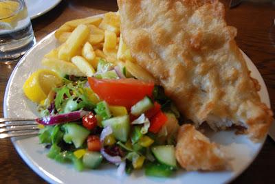 fish & chips, Dores Inn