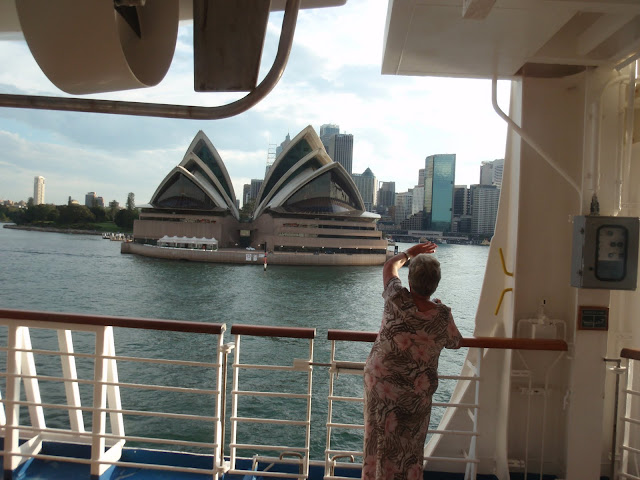 The Sydney Opera House from aboard ship