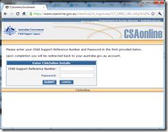 Australia.gov.au - linking a CSA account