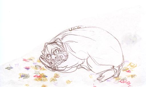 醒獅睏寶圖(風獅爺睡覺)