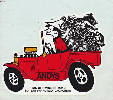 Andy's Roadsters decal