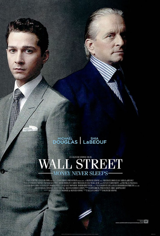 "wallstreet2poster ""Wall Street: Money Never Sleeps"" – Novos Poster e Trailer."