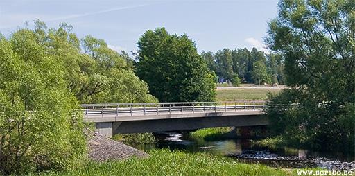 Skärmansbro över Fyrisån vid Storvreta