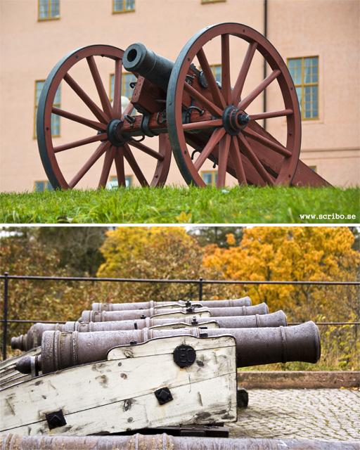Kanoner uppe vid Uppsala slott