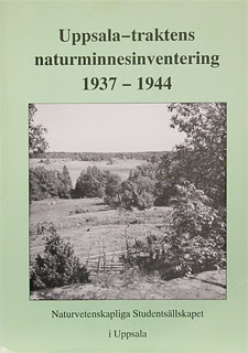 Bokomslag, Uppsala-traktens naturminnesinventering 1937-1944
