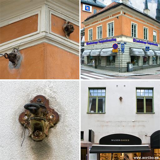 vaggrosetter för kontaktledning, Politiska knuten och Svartbäcksgatan 1b-5
