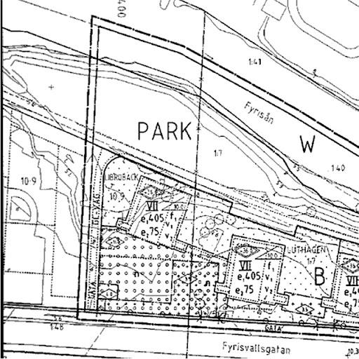 karta över parken Sandkällsparken