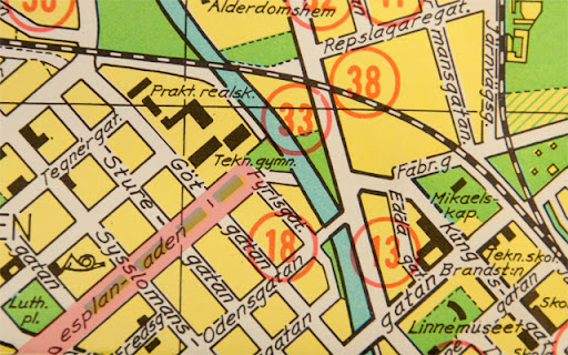 Stadskarta från 1970