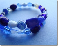 blue mem wire bracelet