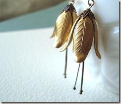 brass flower earr