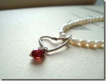 garnet wire wrap heart neck6