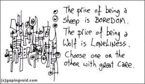 boredom sheep wolf