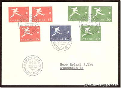 Sweden-WC1958-FDC