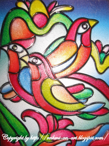 Stain-glass-painting-birds-design