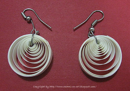 Quilling earrings varieties pictures