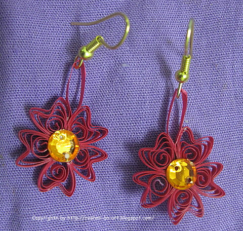 Quilled-flower-earrings