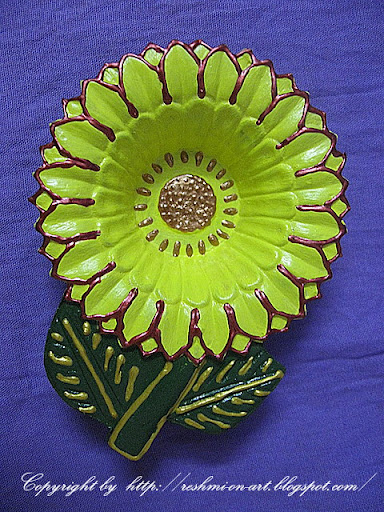 Sunflower-Diwali-Diya-Decoration