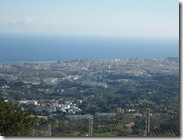 hazy view down over fuengirola