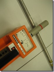 Activated probe holder measured at 3 or 30 µS/h (scale *10 or *100)