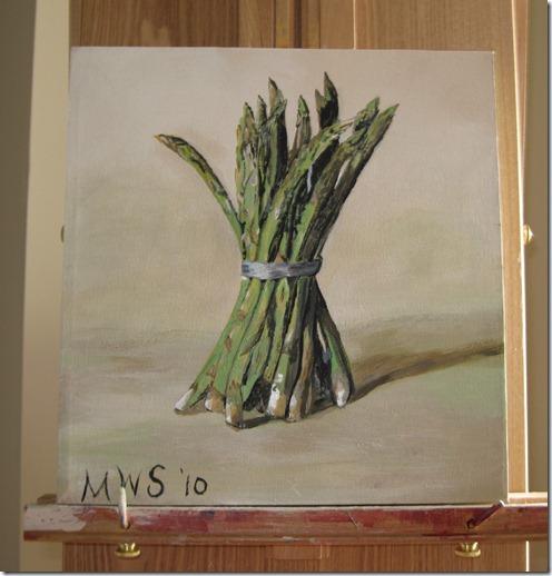 My Asparagus painting 002