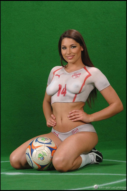 Zafira Soccer Body Paint