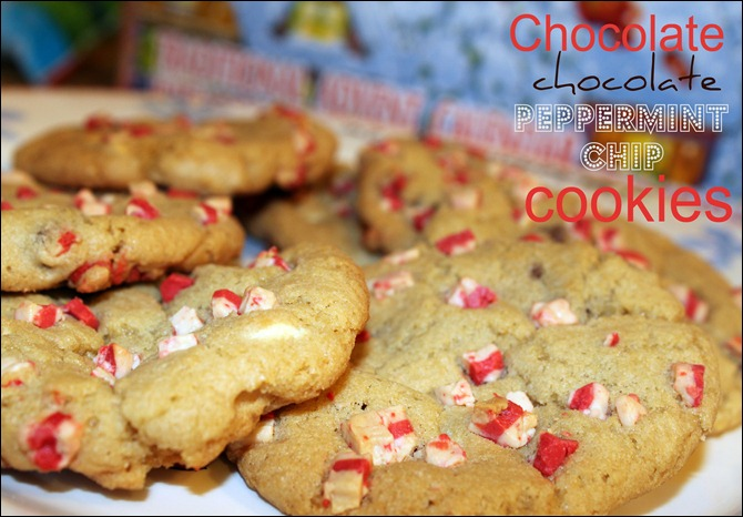chocolate peppermint chip cookies
