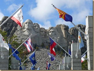 Rushmore w flags