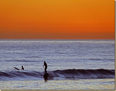 Surfer at Sundown