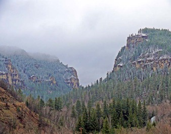 Spearfish Canyon Snow