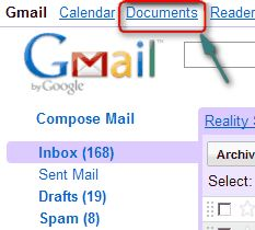 Google Docs in Gmail