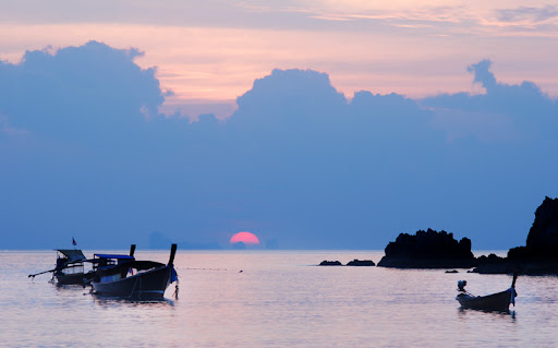 Закат в бухте Kantiang, Ko Lanta
