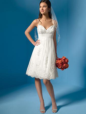 Tea Length Wedding Dress Petite Figure