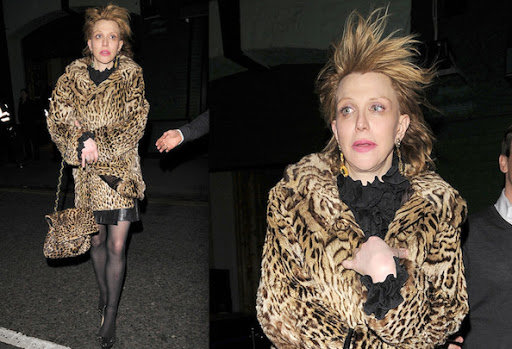 Courtney Love ; Celebrity's Fashion Style - Leopard Moment