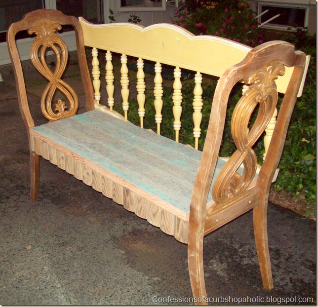 chair bench, yellow 002
