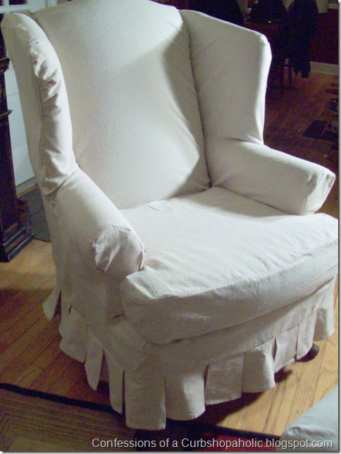 slipcover chair and coffee table 015