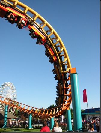 Michigan Adventure - modern roller coaster