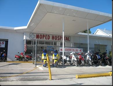 Moped hospital