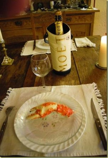 King Crab and Champagne
