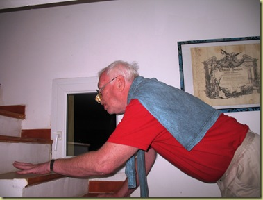Papa had to climb up once again - to bed